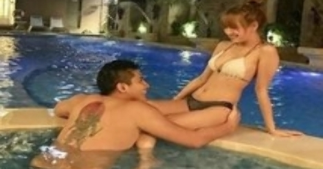 Freelance Model Sex In The Pool With Her Boyfriend